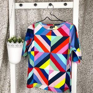 MARIMEKKO FOR UNIQLO Colorful Geometric Top